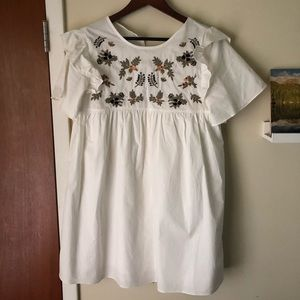 Love riche Embroidered Babydoll Dress